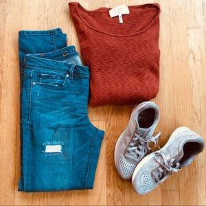 Orange Anthropology Sweater